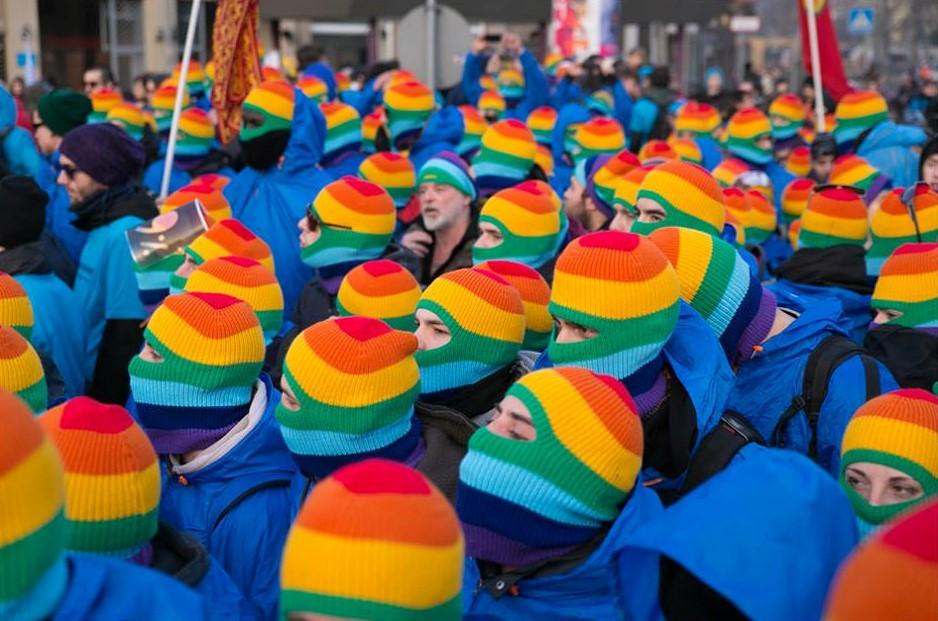 Rainbow balaclavas